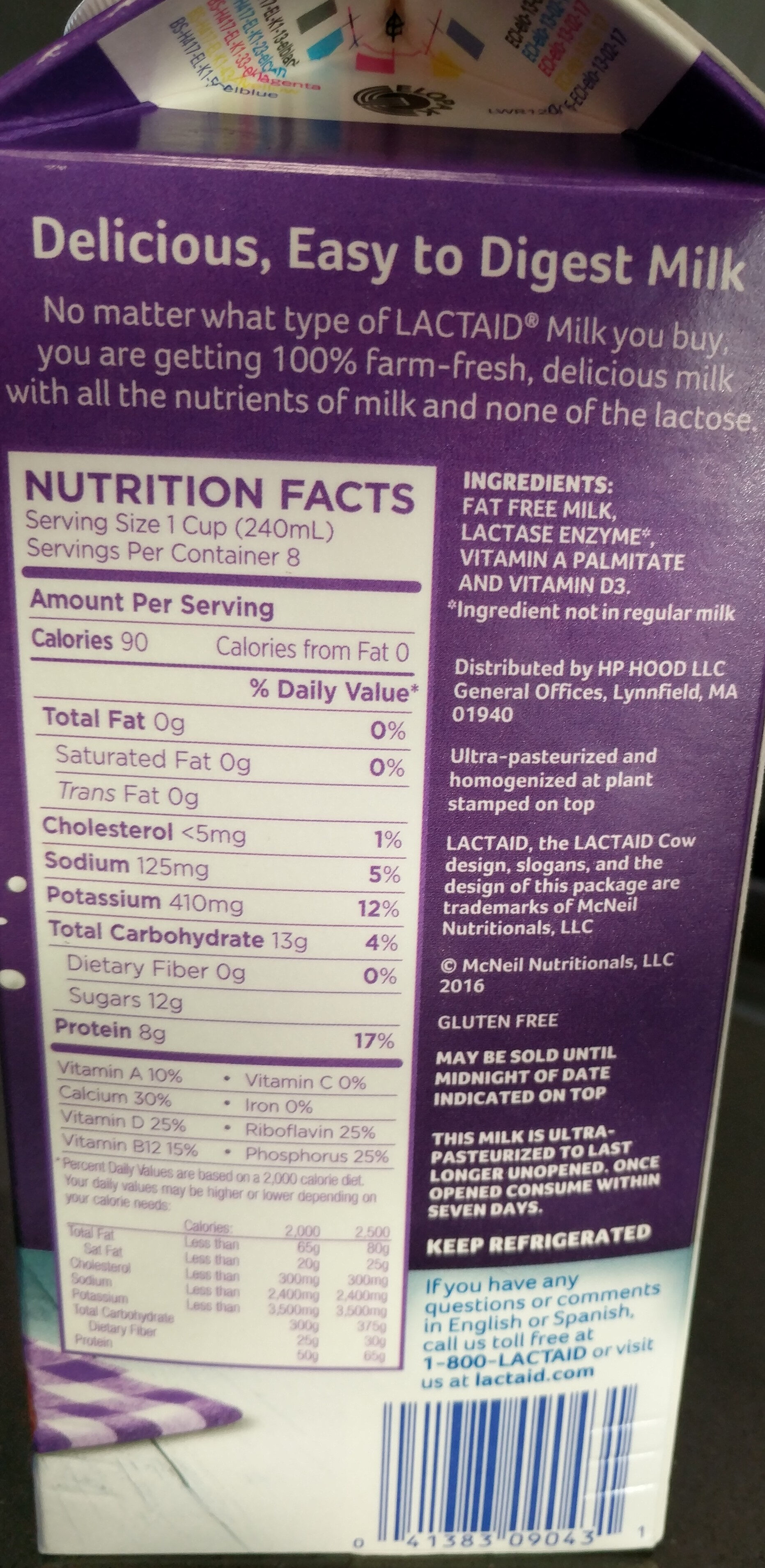Fat Free Milk - Ingredients - en