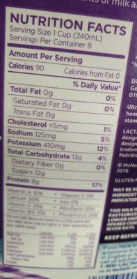 Fat Free Milk - Nutrition facts - en