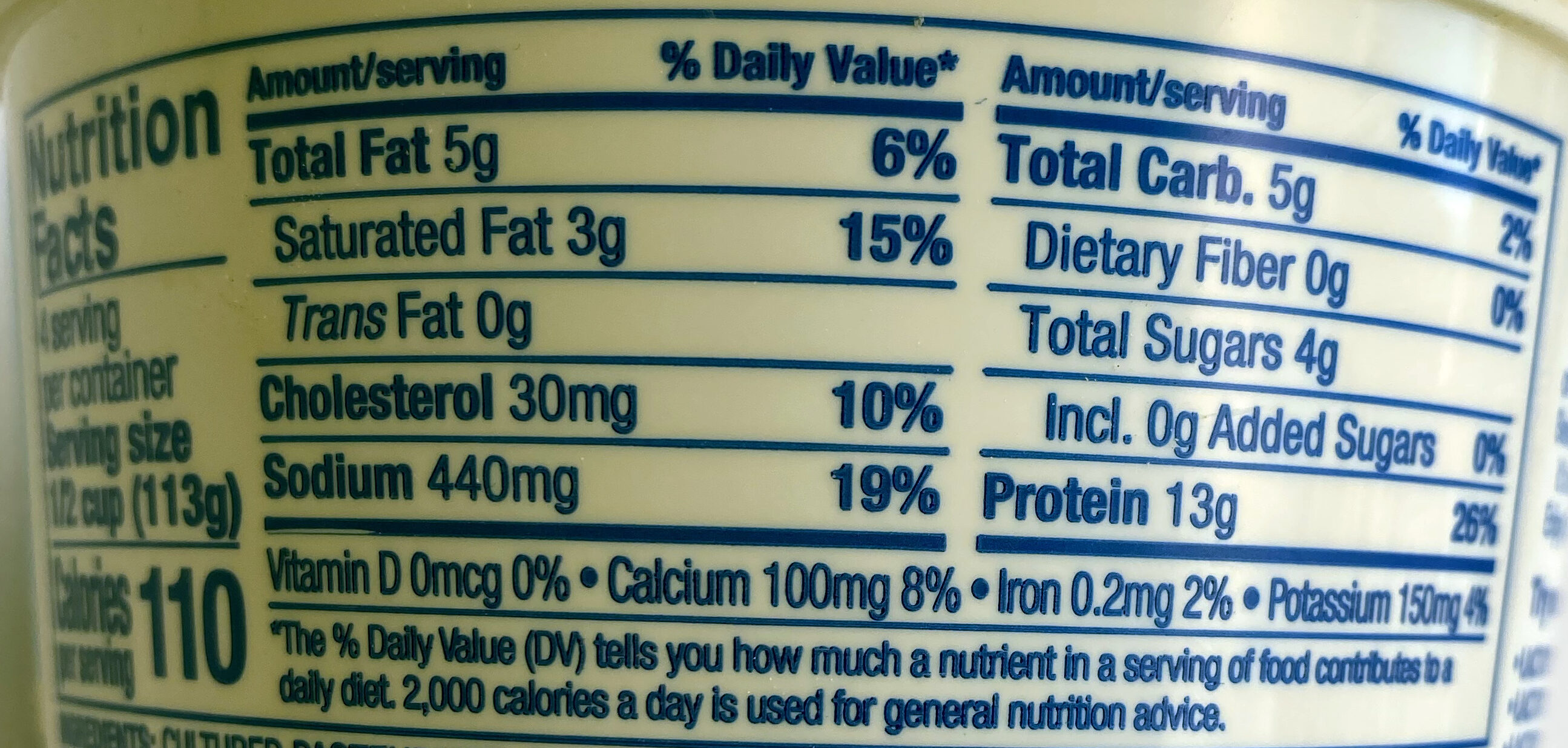Cottage cheese - Nutrition facts - en