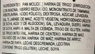 Bread crumbs plain - Ingredientes - es