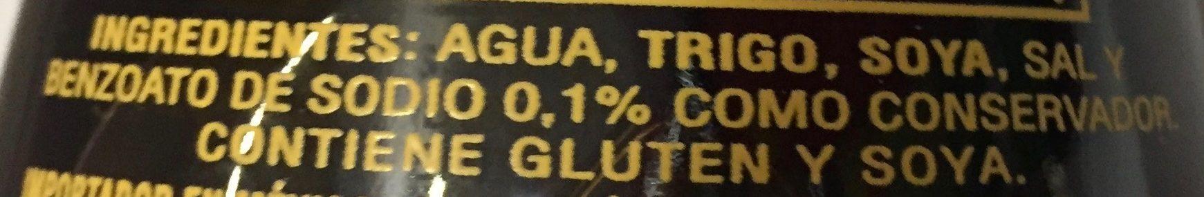 SALSA DE SOYA TRADICIONAL - Ingredients