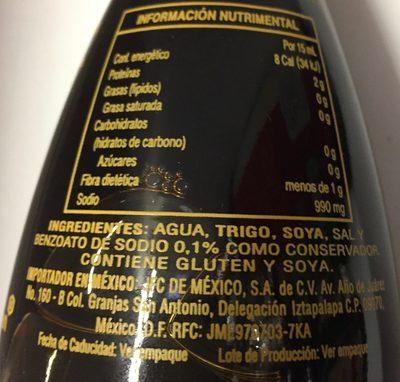 SALSA DE SOYA TRADICIONAL - Nutrition facts