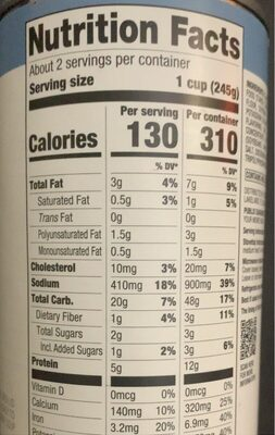 New England Style Clam Chowder - Nutrition facts - en
