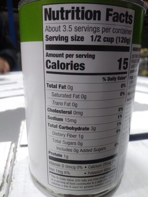 Cut Green Beans - No Salt Added - Valori nutrizionali - en