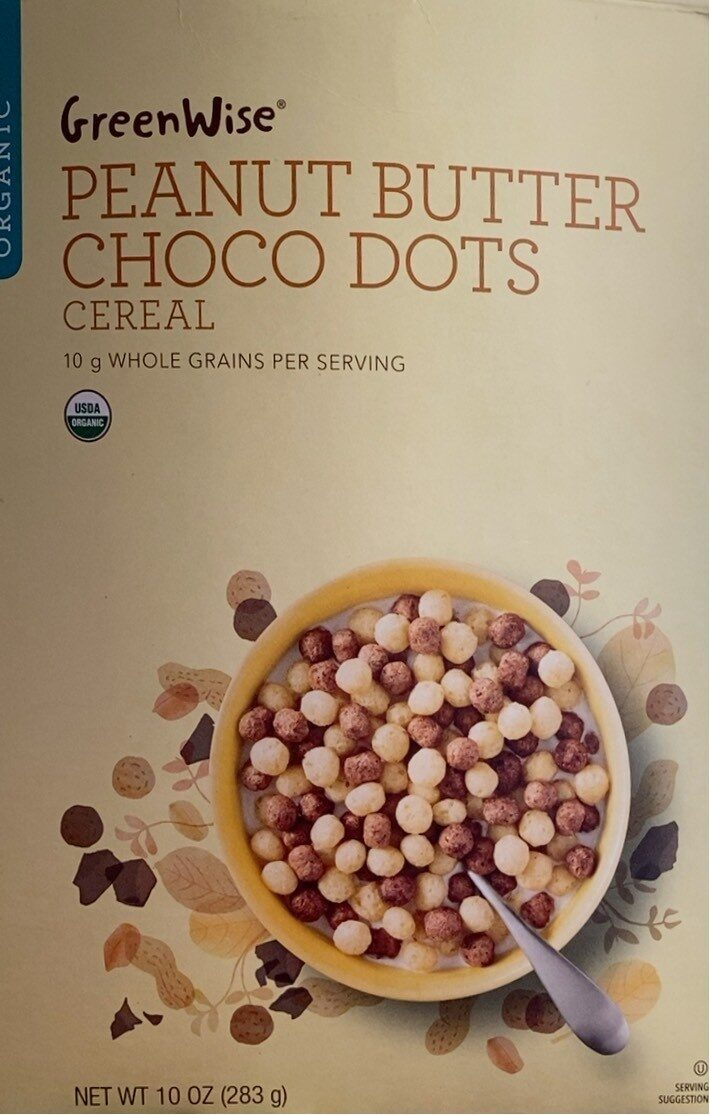 Greenwise organic peanut butter choco dots cereal - Product - en