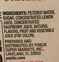 Deli raspberry lemonade - Ingredients - en
