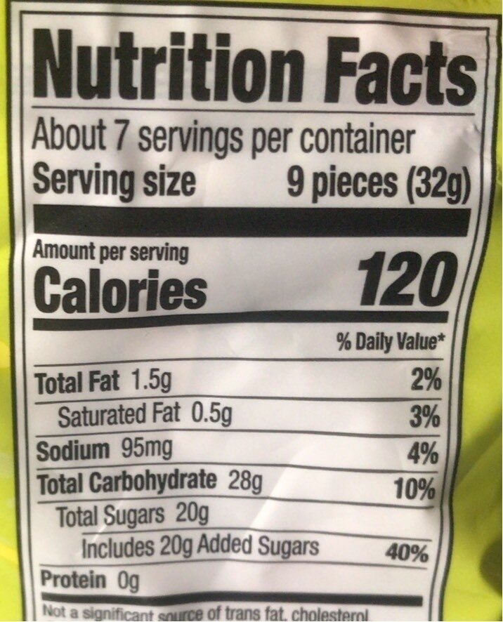 Sour Shell Shocked Candy - Nutrition facts - en