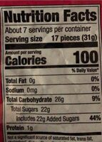 Nerds Gummy Clusters - Nutrition facts - en