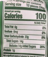 Organic Gummy Bear - Nutrition facts