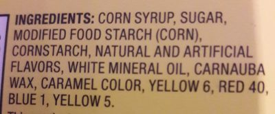 Chewy fruity candy! - Ingredients - en