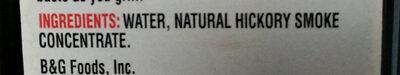 Liquid smoke - Ingredients