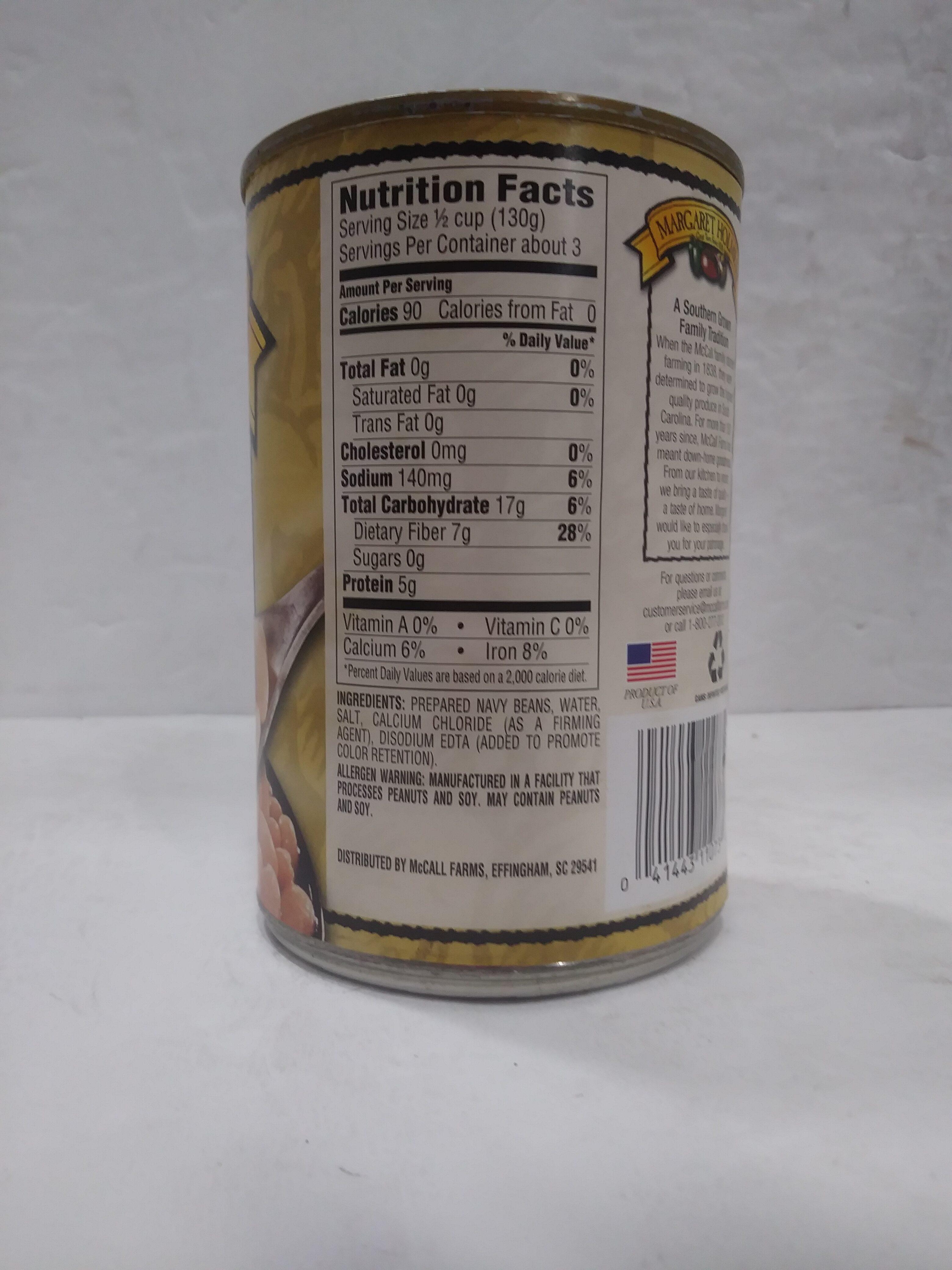 Navy Beans - Informazioni nutrizionali - en