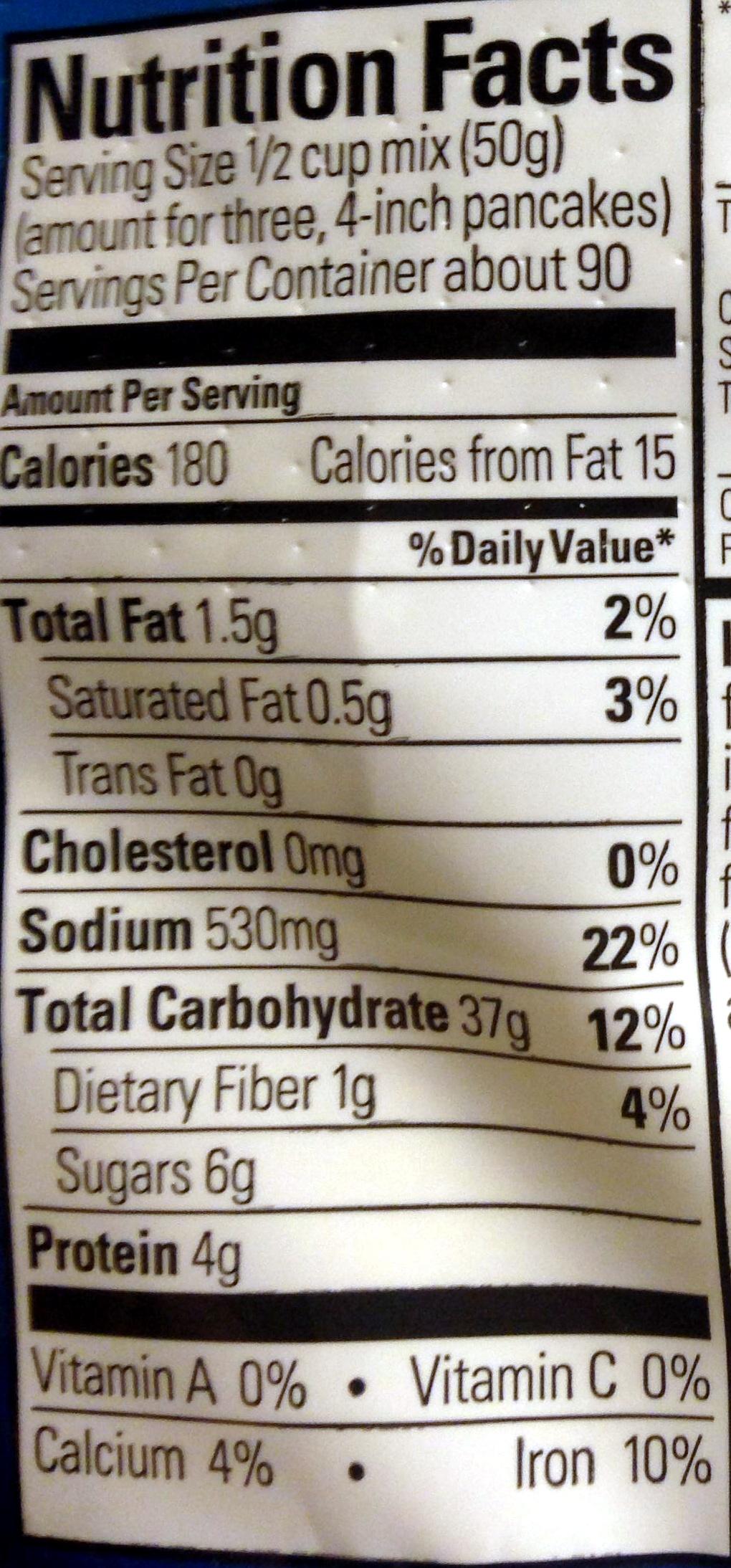 Complete pancake mix - Nutrition facts - en