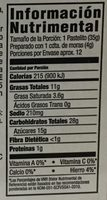 Supreme Muffin Mix, Wild Blueberry - Información nutricional - es