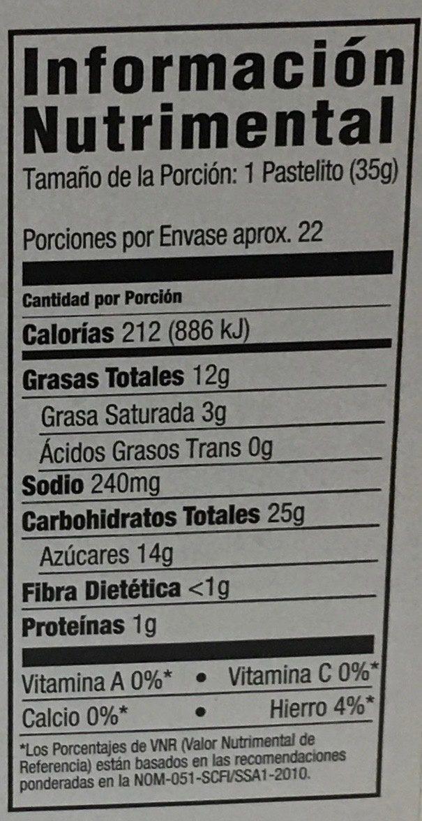 Supreme muffin mix - Información nutricional - es