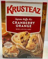 Cranberry orange flavor muffin mix - Producto - es