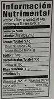 Cranberry orange flavor muffin mix - Información nutricional - es