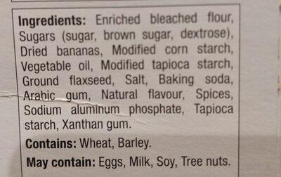 Mélange a pain au banane - Ingredients - fr