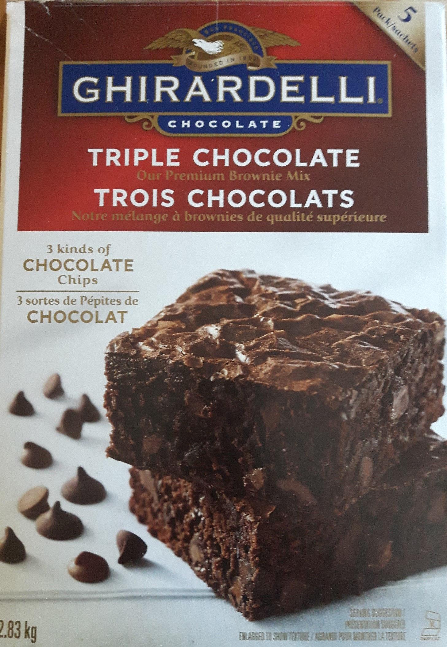 Mélanges à gâteaux trois chocolats - Product