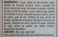 Mélanges à gâteaux trois chocolats - Ingredients