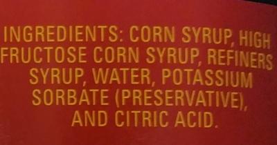 King syrup Golden - Ingredients - en