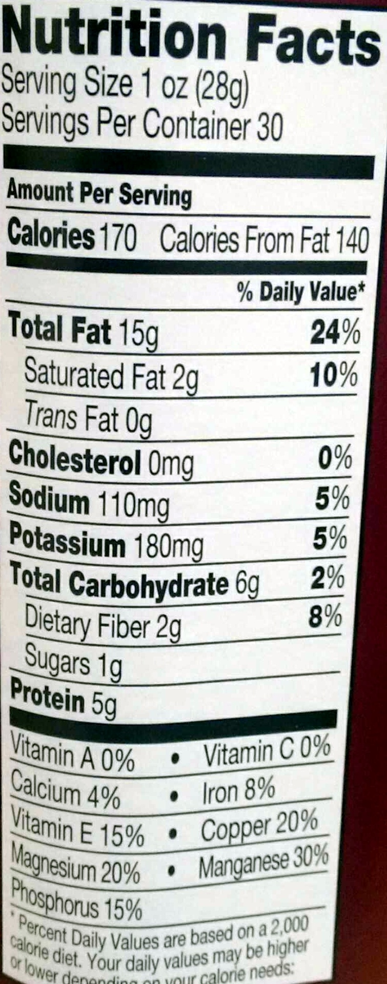 Delux Mixed Nuts - Nutrition facts