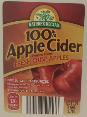 100% Apple Cider - Product