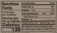 100% Apple Cider - Nutrition facts
