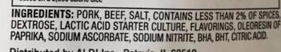 Pepperoni original - Ingredients