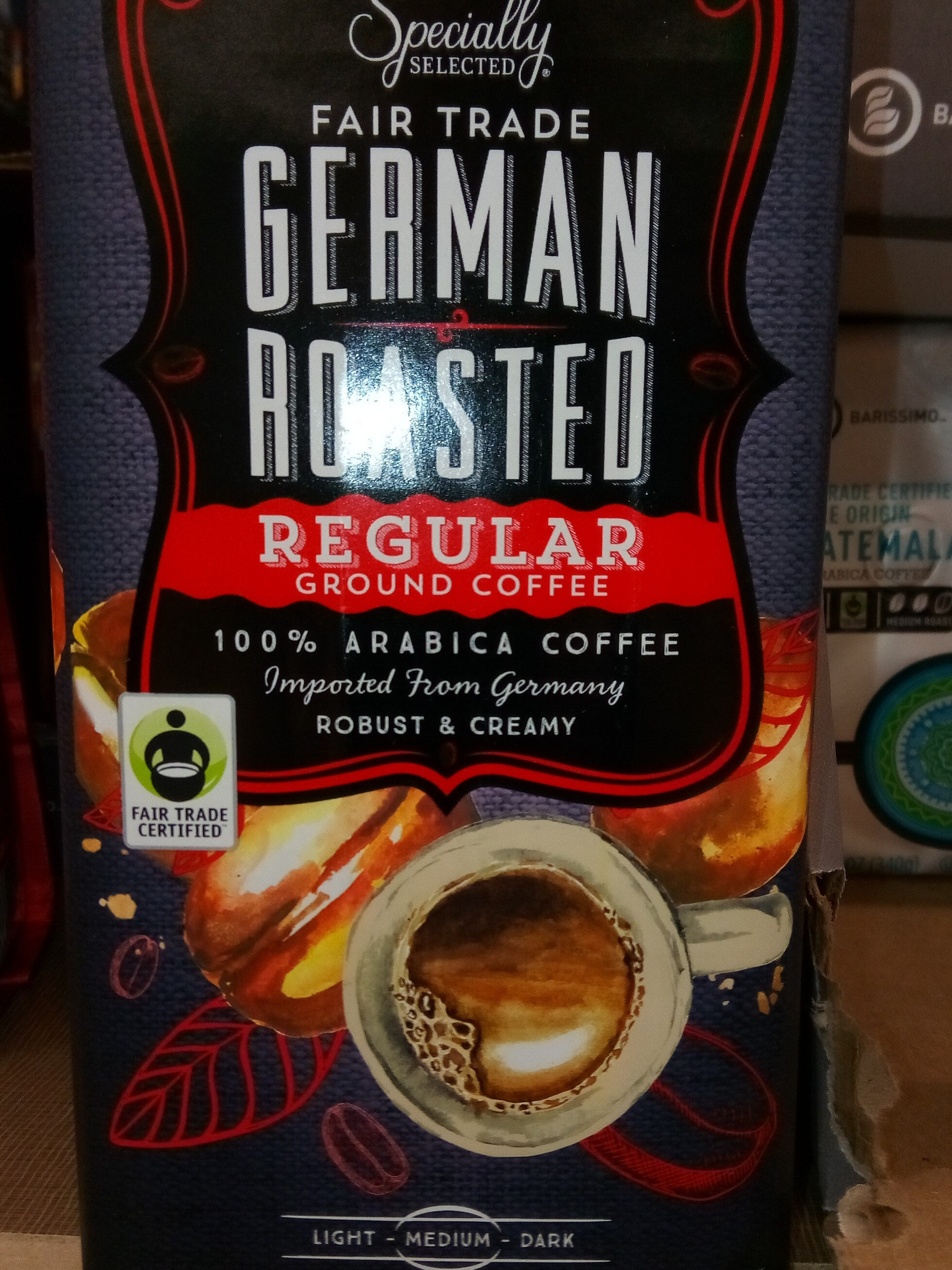specialty selected fair trade German roasted regular ground coffee - Produit