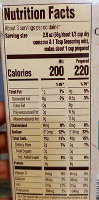 Couscous mix - Nutrition facts - en