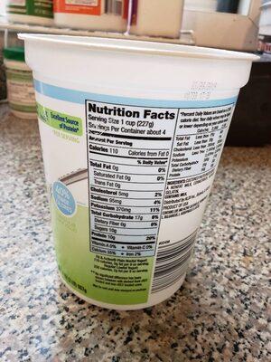 Plain Nonfat Yogurt - Nutrition facts - en