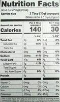 Premium microwave butter popcorn, butter - Informations nutritionnelles - en
