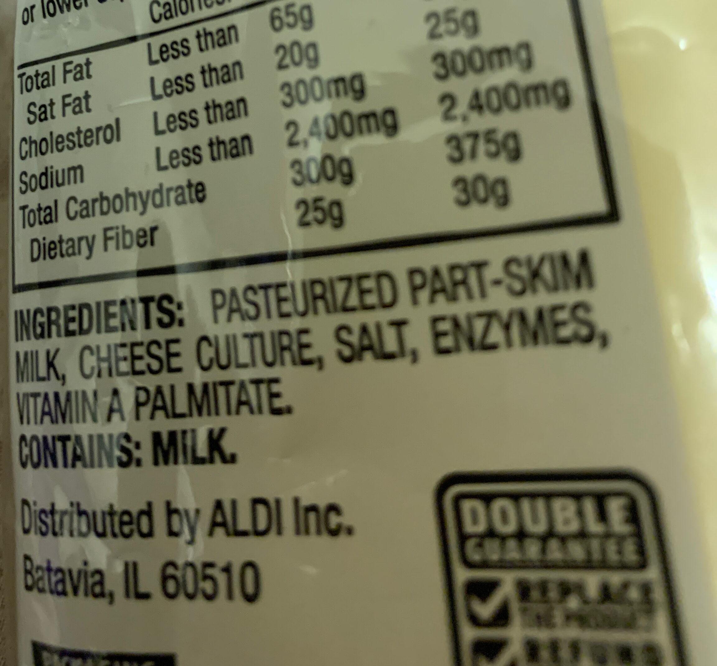 String cheese mozzarella - Ingredients