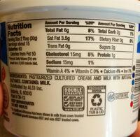 Friendly Farms Grade A Pasteurized Sour Cream - Ingredients - en