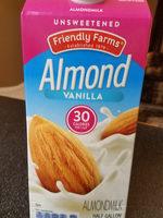 Unsweetened vanilla almondmilk, vanilla - Product - en