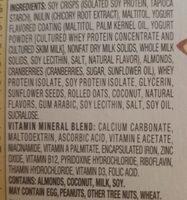 elevation cranberry bars - Ingredients - en