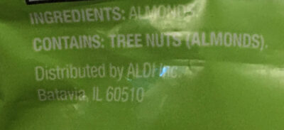 Southern Grove Unsalted Almonds - Ingredients