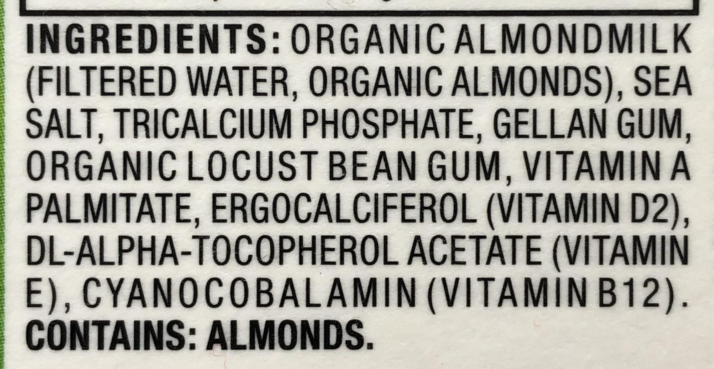 Organic Almond milk - Ingrédients