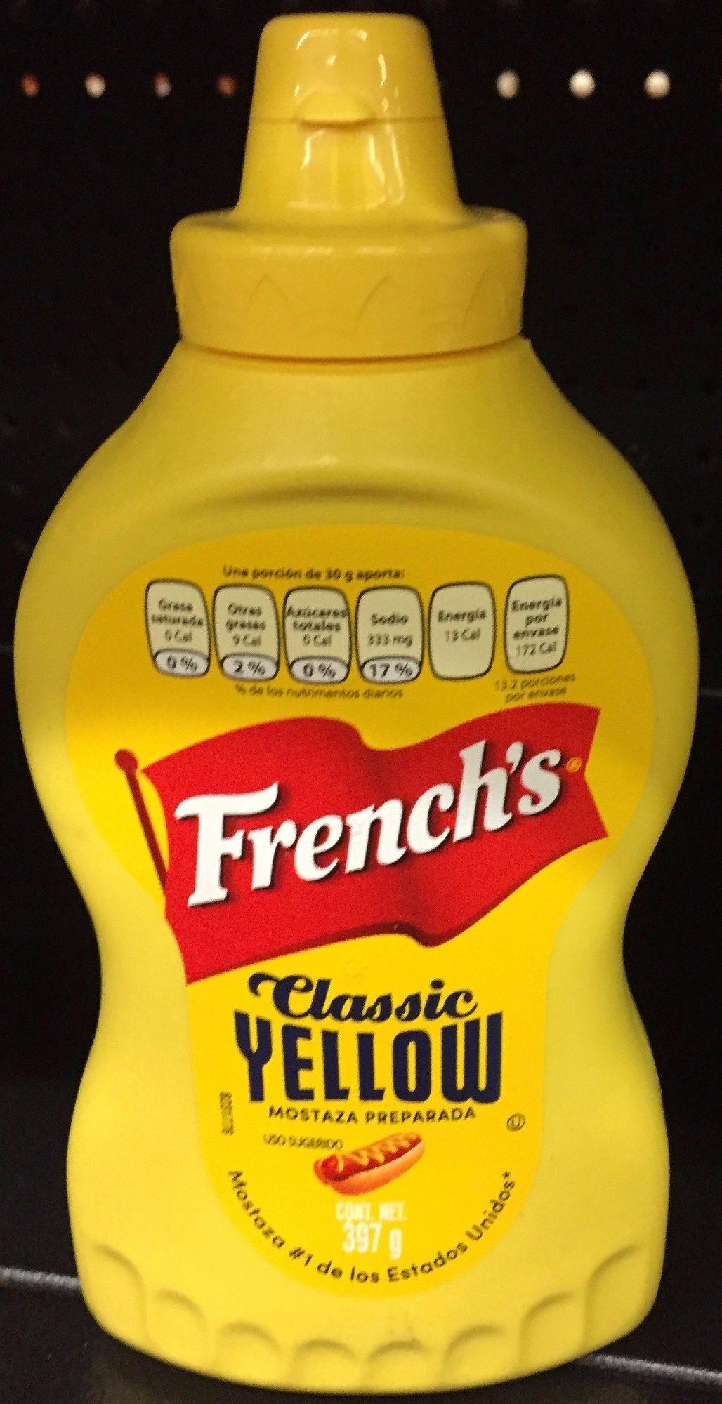 Mostaza Classic Yellow Botella Plástica 396 GR - Producto - es