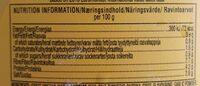 Mostaza Classic Yellow Botella Plástica 396 GR - Información nutricional - es