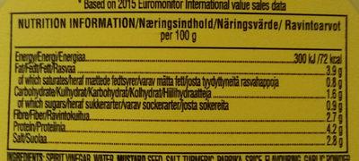 Classic yellow mustard - Informations nutritionnelles - en