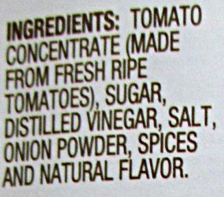 Tomato KETCHUP - Ingredients - en