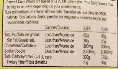 Outshine Fruit Bar - Watermelon - Informations nutritionnelles