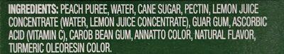 Fruit ice bars, peach - Ingredienti - en
