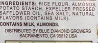 Almond nut-thins - Ingrediënten