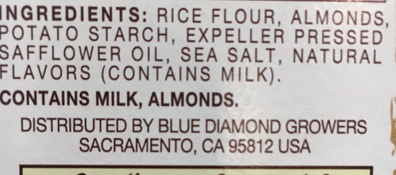 Nut & rice crackers snacks - Ingrediënten - en
