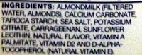 Almond Milk Unsweetened - Ingredients
