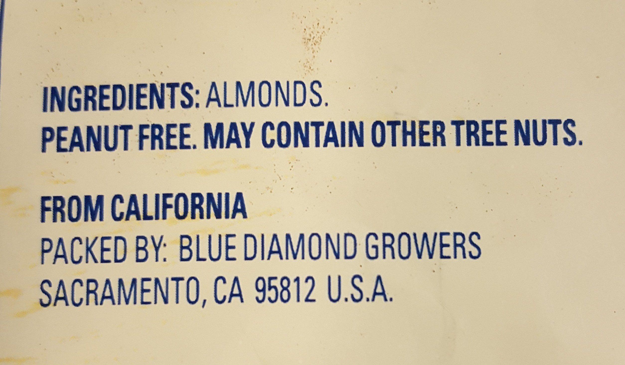 Whole Natural Almonds - Ingrédients - en