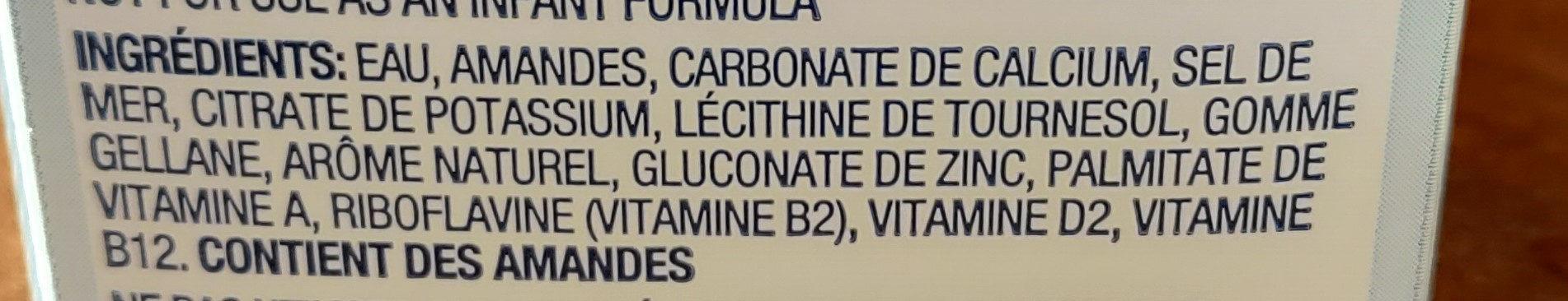 Almond Breeze - Ingredients - fr